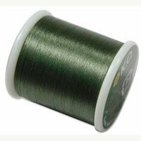 KO thread Waxed coated Japanese Thread Olive for jewellery making and beadwork